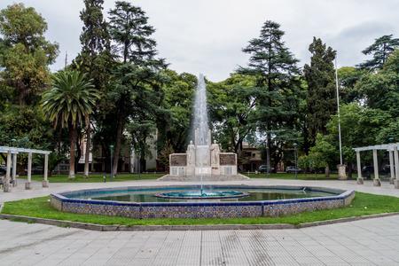 Monument at Italia square in Mendoza, Argentina Stock Photo