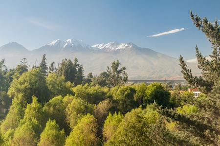 nevado: Chachani volcano above Arequipa, Peru