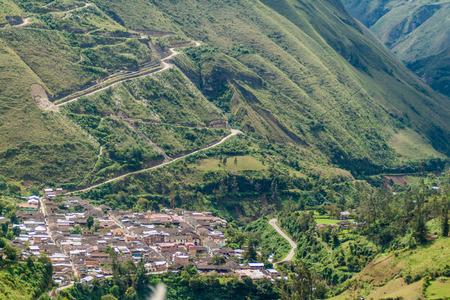 Aerial view of Leimebamba, Peru