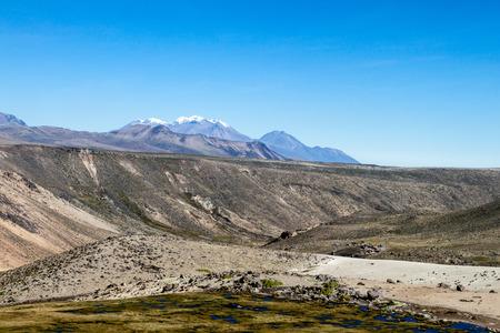 aguada: Landscape in Reserva Nacional Salinas y Aguada Blanca reserve, Peru