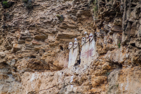 funerary: Sarcophagi of Karajia, funerary site of Chachapoyas culture in northern Peru Stock Photo