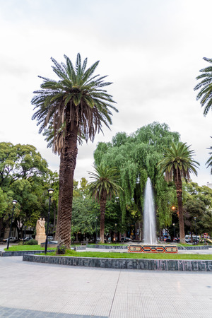 Fountain at Chile square in Mendoza, Argentina