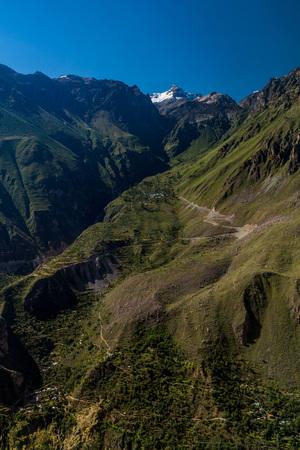 steep: Steep walls of Colca canyon, Peru