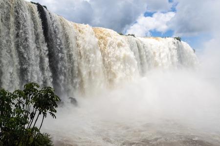 Iguacu (Iguazu) falls on a border of Brazil and Argentina Stock Photo