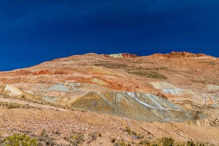 bolivian: Mineral rich mountain near Potosi, Bolivia