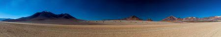 avaroa: Panorama of Salvador Dali Desert in Eduardo Avaroa Andean Fauna National Reserve, Bolivia