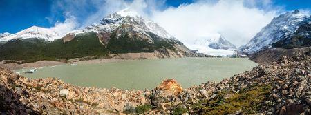 Laguna Torre lake in National Park Los Glaciares, Patagonia, Argentina Stock Photo
