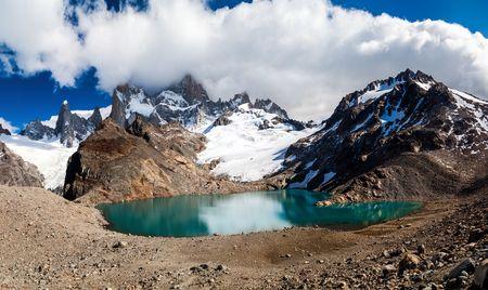 roy: Fitz Roy mountain and Laguna de los Tres lake, National Park Los Glaciares, Patagonia, Argentina