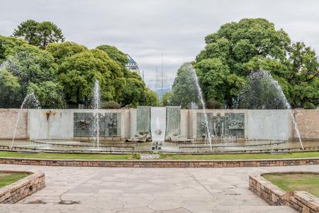 Fountain at Independencia square in Mendoza, Argentina