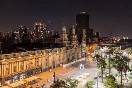 Catedral Metropolitana at Plaza de Armas square in Santiago, Chile
