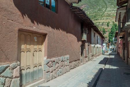 pisaq: PISAC, PERU - MAY 22, 2015: Street in Pisac village, Sacred Valley of Incas, Peru.