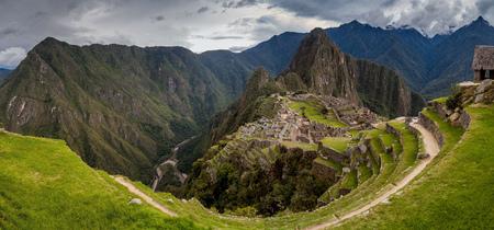 Panorama of Machu Picchu ruins, Peru