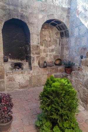 catholic nuns: Open air kitchen in Santa Catalina monastery in Arequipa, Peru