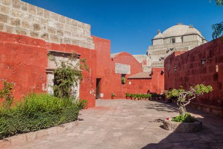 Alley in Santa Catalina monastery in Arequipa, Peru Stock Photo