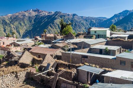 Roofs of Cabanaconde village, Peru