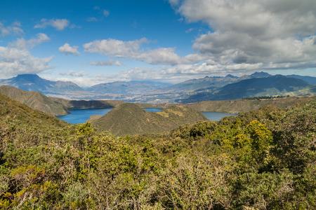 Volcanic lake Laguna Cuicocha in Ecuador
