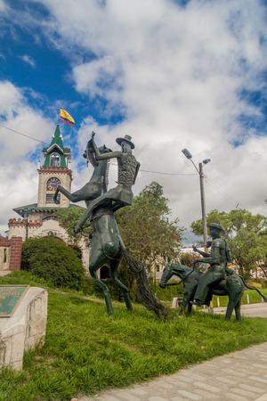 LOJA, ECUADOR - JUNE 15, 2015: Monument of Don Quijote in Loja, Ecuador