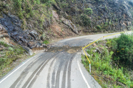 Mountain road between Balsas and Leimebamba, Peru