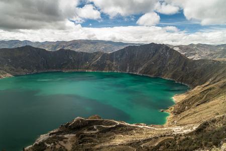 Crater lake Laguna Quilotoa, Ecuador