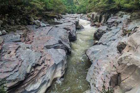 El Estrecho, narrows of river Magdalena in Colombia Stock Photo