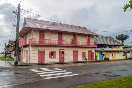 View of a colonial house in St Laurent du Maroni, French Guiana.