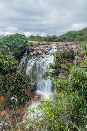 Quebrada Pacheco waterfall in Gran Sabana region in National Park Canaima, Venezuela. Stock Photo