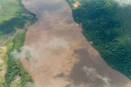 venezuela: Aerial view of river Caroni in Venezuela Stock Photo