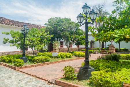 Small park in Santa Fe de Antioquia, Colombia. Stock Photo