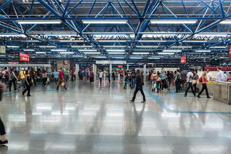SAO PAULO, BRAZIL - FEBRUARY 2, 2015: Interior of Terminal Rodoviario Tiete bus station in Sao Paulo, Brazil