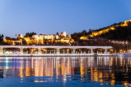 Skyline of Malaga, Spain.
