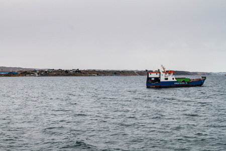 PUNTA ARENAS, CHILE - MARCH 4, 2015: Ship in Punta Arenas, Chile. Editorial