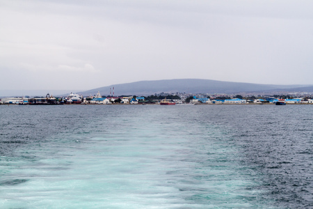 View of Punta Arenas, Chile. Stock Photo