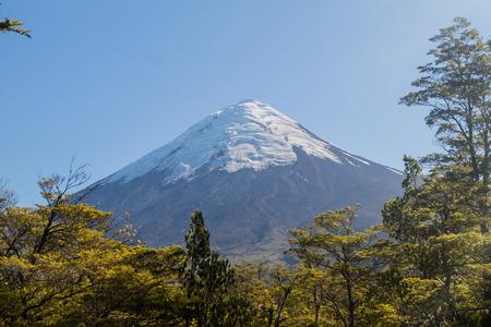 erupting: Osorno volcano, Chile Stock Photo