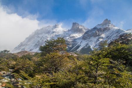 Valley of Rio Fitz Roy river in National Park Los Glaciares, Patagonia, Argentina