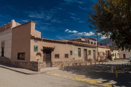 TILCARA, ARGENTINA  - APRIL 10, 2015: Traditional buildings in Tilcara village.