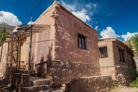 Traditional house in Tilcara village, Argentina