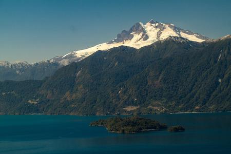mount tronador: Lago Todos los Santos (Lake of all the Saints) with Monte Tronador volcano in background, Chile Stock Photo