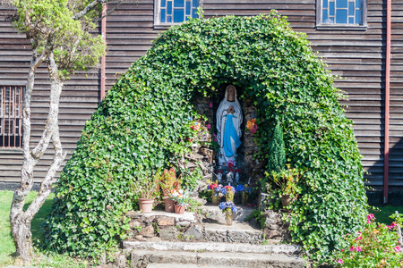 chilean: Virgin Mary statue in former convent Inmaculada Concepcion in Ancud, Chiloe island, Chile.
