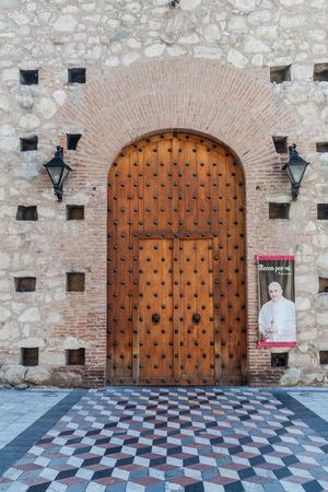Gate to Iglesia de la compania de Jesus church in Cordoba, Argentina