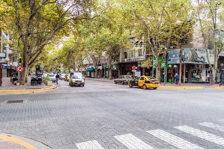 MENDOZA, ARGENTINA - MARCH 30, 2015: Traffic on the street in Mendoza, Argentina.
