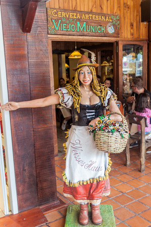 VILLA GENERAL BELGRANO, ARGENTINA - APR 3, 2015: German styled statue in Villa General Belgrano, Argentina. Village now serves as a Germany styled tourist attraction Editorial