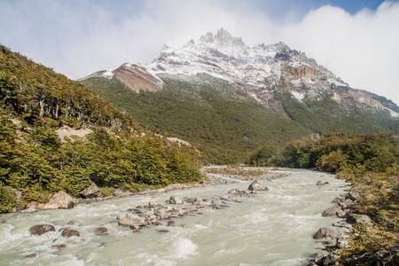 roy: Valley of Rio Fitz Roy river in National Park Los Glaciares, Patagonia, Argentina