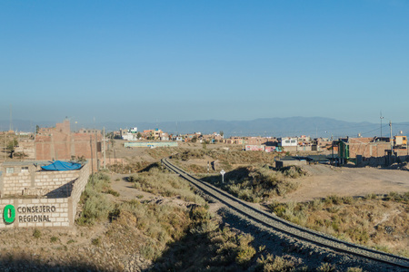 YURA, PERU - MAY 29, 2015:  View of a town Yura near Arequipa, Peru