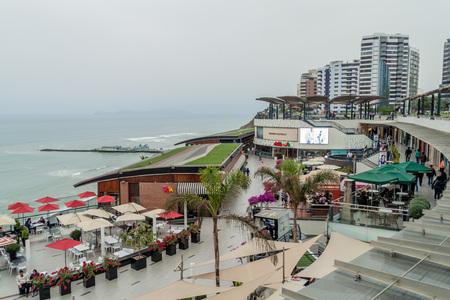 LIMA, PERU - JUNE 4, 2015: Larcomar shopping mall in Miraflores district of Lima