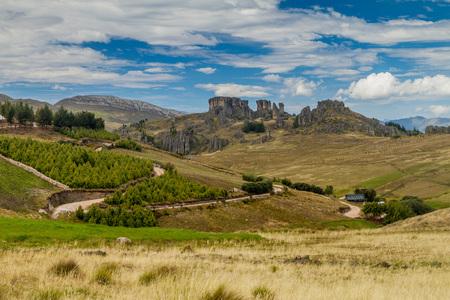 Los Frailones (Stone Monks), rock formations near Cajamarca, Peru.