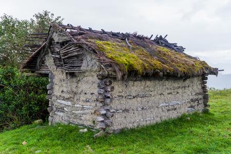 Old rural house near Leymebamba village in northern Peru Stock Photo