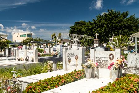 SANTAREM, BRAZIL - JULY 29, 2015: View of a cemetery in Santarem, Brazil