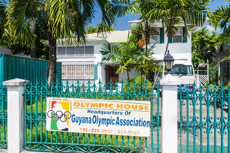 GEORGETOWN, GUYANA - AUGUST 10, 2015: Olympic house in Georgetown, capital of Guyana. Editorial