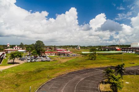 Buildings of Centre Spatial Guyanais (Guiana Space Centre) in Kourou, French Guiana Stock Photo