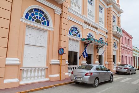 casa colonial: GIBARA, CUBA - 29 DE JULIO DE 2016: Hotel Ordono en Gibara, Cuba Editorial